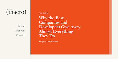 Why the Best Companies and Developers Give Away Almost Everything They Do
