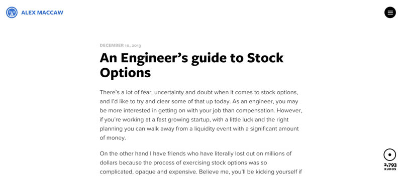 An introduction to stock options for the tech entrepreneur