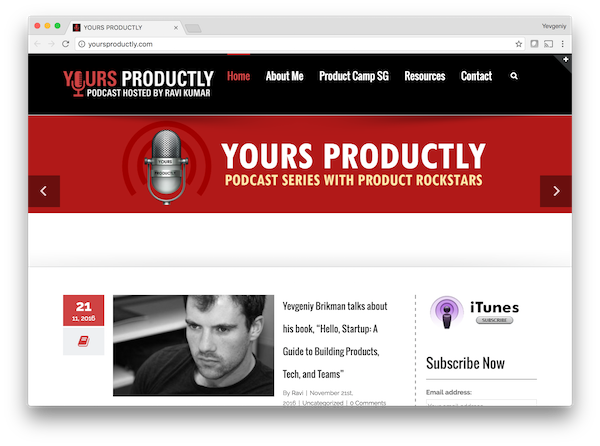 Yevgeniy Brikman on the Yours Productly Podcast